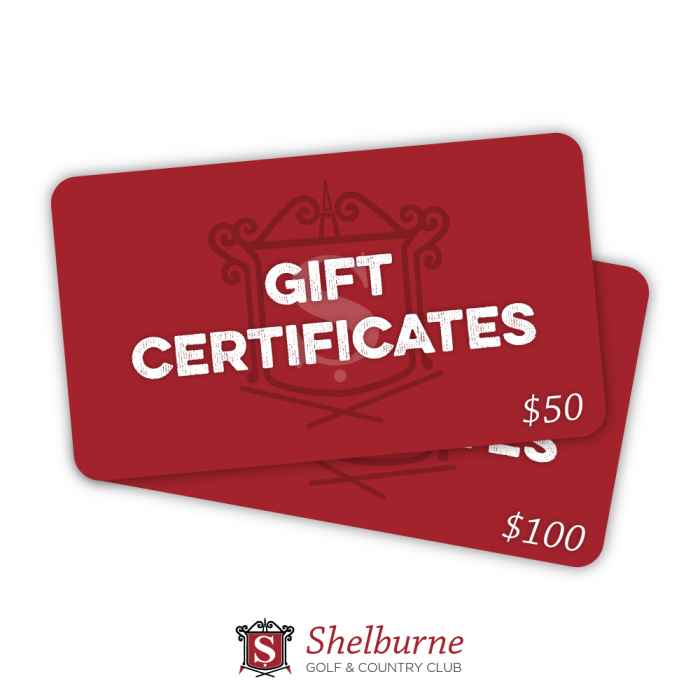 Shelburne golf gift cards